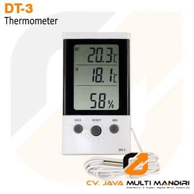 Termometer Ruangan dan Luar Ruangan AMTAST DT-3